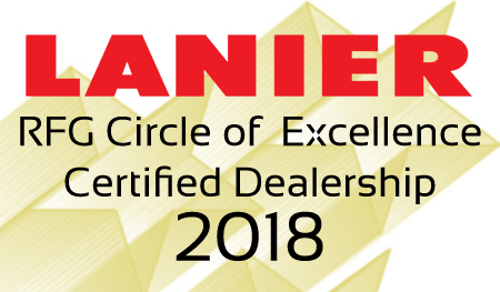 Cardinal recognized as a Lanier Circle of Excellence Certified Dealership